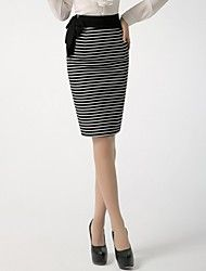 Incern®Women's Stripes High Waist Bodycon Long Pencil Skirts(More Colors)