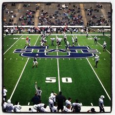 Aggie Spring Game! Wow- It feels good to be back in the Stadium! @3rdgenaggie @heyitsjames #aggielife #aggiefootball