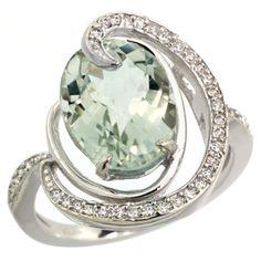 Green amethyst ring!