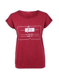 Melange-Shirt mit Flockprint von s.Oliver. Entdecken Sie jetzt topaktuelle Mode…