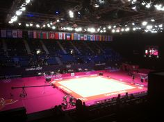Wembley_arena_rhythmic_gymnastic Wembley Arena, Rhythmic Gymnastics, Basketball Court, Trays