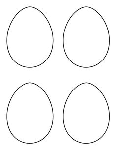 Monster image within easter egg template free printable