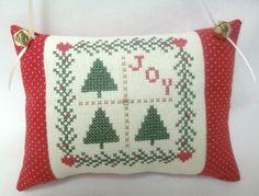 Christmas Joy Ornament Cross Stitched by luvinstitchin4u on Etsy