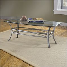 Hillsdale Abbington Dark Pewter Coffee Table with Glass Top - 4885OTC - Lowest price online on all Hillsdale Abbington Dark Pewter Coffee Table with Glass Top - 4885OTC