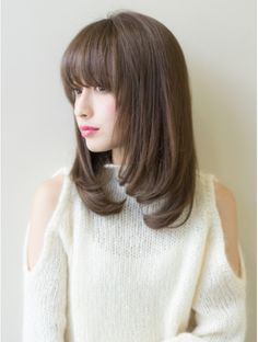 Pin on カタログ Pin on カタログ Layered Haircuts For Medium Hair, Bangs With Medium Hair, Medium Short Hair, Short Straight Hair, Medium Hair Cuts, Korean Short Hair, Medium Hair Styles, Short Hair Styles, Korean Bangs