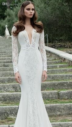 sexy open back lace wedding dress - Google Search