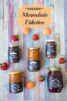 Marmelade Etiketten Freebie zum Individualisieren