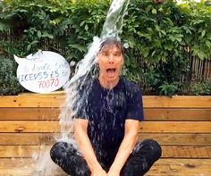 Benedict Cumberbatch Strips Down For His Ice Bucket Challenge, Plus Idina Menzel, Tom Hanks, and More Celebs Participate: Watch the Videos.