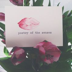 Lips. Poetry of the senses. Mini typewriter watercolour painting. One of a kind watercolor art by dabblelicious by dabblelicious on Etsy https://www.etsy.com/listing/231778796/lips-poetry-of-the-senses-mini