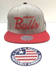 Chicago Bulls Mitchell   Ness Gray Wool RED snapback Adjustable Hat Cap NBA  Hat  fashion 3a58c45fd788