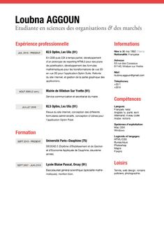 resume of james young creative director from cv parade graphic