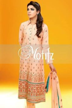 Cambric embroidery Motifz Celebration Outfit Collection 2015