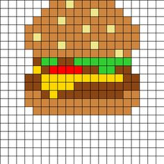 These are food-themed bead patterns, including perler bead patterns (bead sprites), kandi cuff patterns, peyote stitch patterns, & more. Kandi Patterns, Pearler Bead Patterns, Perler Patterns, Beading Patterns, Perler Beads, Perler Bead Art, Fuse Beads, Pixel Art Templates, Perler Bead Templates