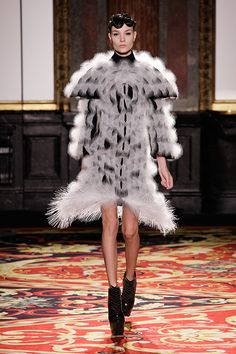 """Iris van HERPEN presents """"Voltage,"""" her Haute Couture collection for S/S 2013, with contributions from Neri OXMAN and Julia KOERNER."""
