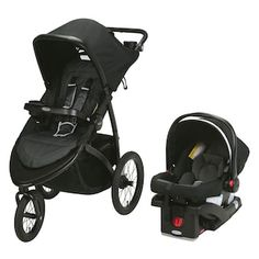 The Graco RoadMaster Jogger Travel System combines comfort and convenience features for easy traveling in and out of the car with baby. Includes the compact-folding RoadMaster Jogger Stroller and the SnugRide Click Connect 30 LX Infant Car Seat. Baby Jogger Stroller, Baby Strollers, Toys R Us, Car Seat Weight, City Mini Gt, Double Strollers, Travel System, Traveling With Baby, Baby Car Seats