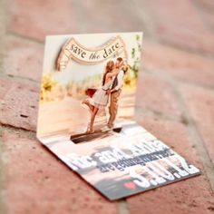 Pop up save the dates! perfect!