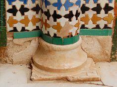 Pie de columna en el Patio del Cuarto Dorado de la Alhambra