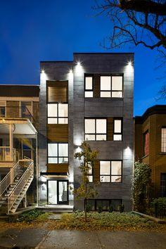 Facade - 6568 avenue Chateaubriand Montréal, Québec Condo, Quebec, Montreal, Facade, Mansions, Architecture, House Styles, Design, Ideas