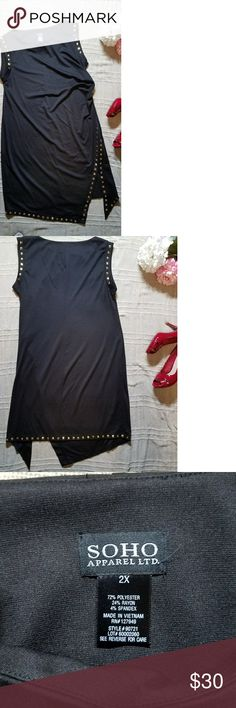 Black asymmetrical studded SOHO apperal Ltd. Dress Black asymmetrical studded detail dress Soho Apparel Dresses Asymmetrical