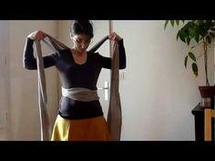 Portage en enveloppé-croisé ventre en écharpe Fil'Up - YouTube
