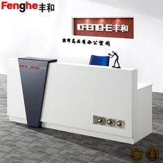 Source Hot sell l shaped standing beauty nail salon metal reception desk on m. Office Counter Design, Reception Counter Design, Small Reception Desk, Hotel Reception Desk, Law Office Design, Office Reception Design, Office Table Design, Office Furniture Design, Office Interior Design