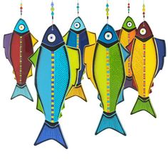 Colourful Fused Glass Hanging Fish A Full by IlluminatiGlassworks, $499.00