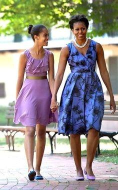 Lady Obama & Malia, bonding! |