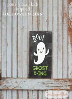 Boo! Halloween Sign {Pottery Barn Inspired}
