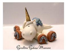 Unicorn, Polymer Clay, Porcelana Fria