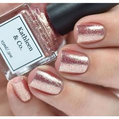 Rose-Gold Digger Rose gold Nail Polish, 5 Free, Cruelty Free ($10) ❤ liked on Polyvore featuring beauty products, nail care, nail polish and shiny nail polish