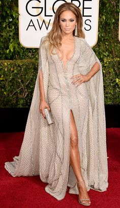 Golden Globes 2015: Red Carpet Arrivals - Jennifer Lopez from #InStyle
