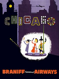 Mid-century Chicago, USA poster  http://www.vintagevenus.com.au/products/vintage_poster_print-tv659