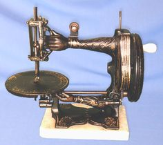 ❤✄◡ً✄❤ Manufactured by Sellers of Keighley, UK, this exquisite 19th Century one-of-a-kind machine remains something of an enigma. Apart from the identification of its maker, no other details have been unearthed to date. - http://www.dincum.com/library/libraryimages/lib_sellershand1.jpg