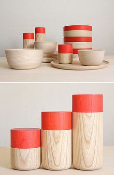 Minimal wooden tableware . by soji