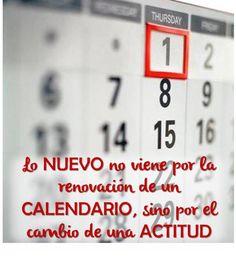 Lo nuevo no viene por la renovación del Calendario.....