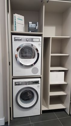 """Outstanding """"laundry room stackable washer and dryer"""" detail is readily availabl. Outstanding """"laundry room stackable washer and dryer"""" detail is readily availabl. Laundry Cupboard, Laundry Room Shelves, Laundry Room Layouts, Laundry Room Remodel, Laundry Closet, Laundry Room Organization, Laundry Room Design, Ikea Laundry, Basement Laundry"""