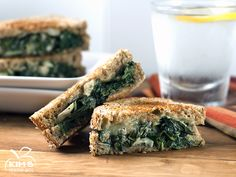 Spinach & Artichoke Grilled Cheese | Enjoy the comfort of grilled cheese with the added nutritional benefits of spinach, garlic, artichokes! #yum