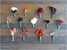 Good color and style inspiration for bouts - some berries here, and some burgundy scabiosa in various combos
