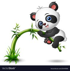 Find Vector illustration of Cute baby panda tree climbing bamboo stock vectors and royalty free photos in HD. Explore millions of stock photos, images, illustrations, and vectors in the Shutterstock creative collection. Cute Panda Drawing, Cute Panda Cartoon, Cute Animal Drawings, Panda Tree, Urso Bear, Panda Mignon, Cartoon Mignon, Niedlicher Panda, Cute Panda Wallpaper