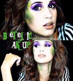 Halloween Makeup - Beetlejuice Makeup  Youtube: Carah Amelie https://www.youtube.com/watch?v=jYwLAZjLm-o