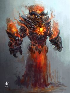 rpg settings • spassundspiele:   Fire Fire – demon concept by...