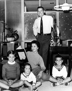 Shirley Temple Black  w/family 1958 later an ambassador