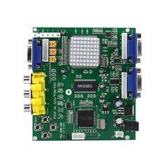DIY Game Console / HD-Converter CGA/EGA/YUV to VGA / Video Convert Board. The high definition converter GBS-8200. it's professional of game convert. Support all games(Amusement, Play station, Xbox, wii ) convert to CRT monitor , LCD monitor, PDP monitor.Auto scan CGA/EGA/YUV signal, VGA outputs, output high resolution signal. FEATURES - Support CGA/EGA/YUV signal input. - Support VGA output 640*480,800*600,1024*768,1360*768 - CGA/EGA signal auto scan(15K,24K,31K) - YUV signal auto…