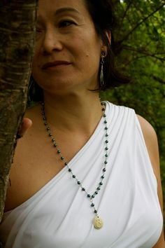 Fresh water Pearl Omm Malla Necklace by SeleneJoyDesigns on Etsy