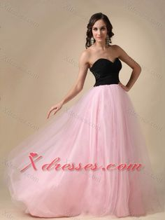 Black and Pink Prom Pegant Dress