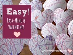 Easy valentines for preschoolers and kids to make