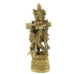 Amazon.com: Lord Krishna - Hindu God Brass Sculpture Playing Flute: Furniture & Decor