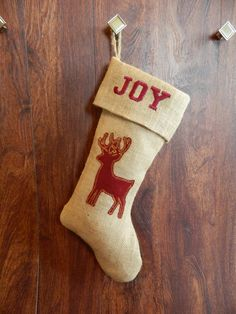 Check out this item in my Etsy shop https://www.etsy.com/listing/242210421/rustic-burlap-christmas-stocking-with