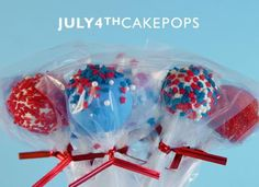 How To Make 4th of July Cake Pops