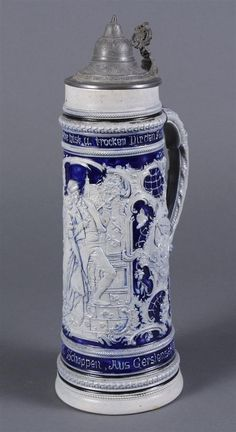 GERMAN CERAMIC BEER STEIN
